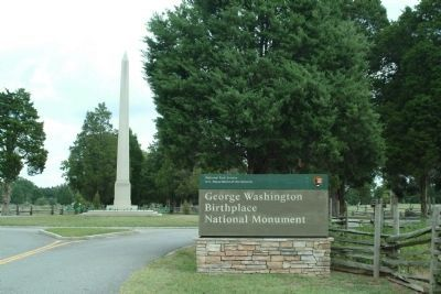 George Washington's Birthplace National Monument image. Click for full size.