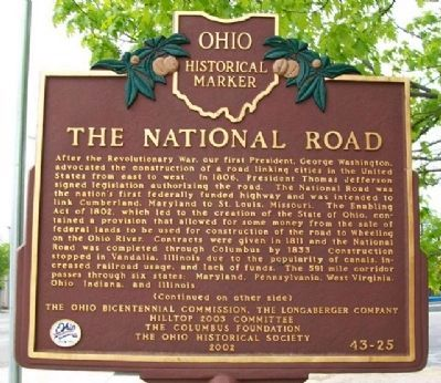The National Road Marker (Side A) Photo, Click for full size