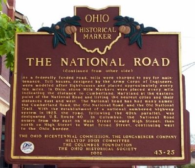 The National Road Marker (Side B) Photo, Click for full size