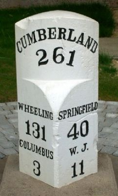 A National Road Stone Marker Photo, Click for full size