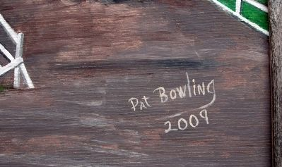 "Artist Signature on the Mural: "" Pat Bowling 2009"" image. Click for full size."