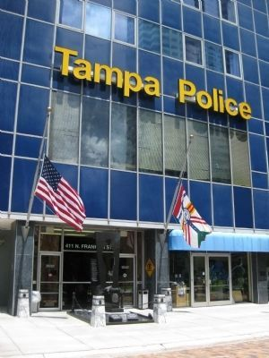 Fallen Officers Memorial at Tampa Police Headquarters image. Click for full size.