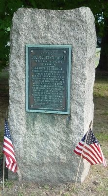 Site of Log Meeting House of the Baptist Church of Warwick Marker image. Click for full size.