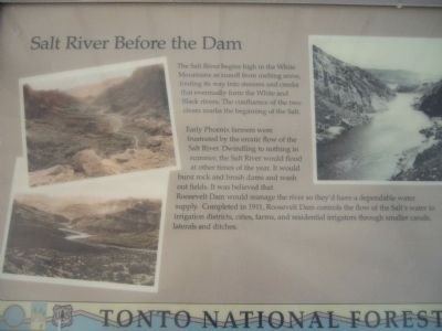 Salt River Before the Dam Marker image. Click for full size.