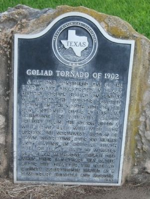 Goliad Tornado of 1902 Marker image. Click for full size.