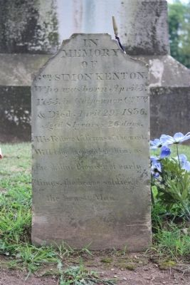 Gravestone of Simon Kenton Photo, Click for full size