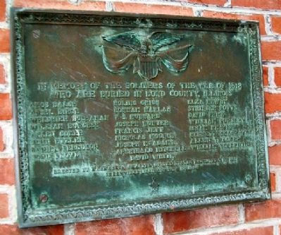 War of 1812 Soldiers Buried in Bond County Marker Photo, Click for full size