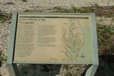 A New World on the Chesapeake Marker image. Click for full size.