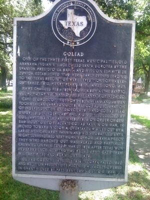 Goliad Marker image. Click for full size.