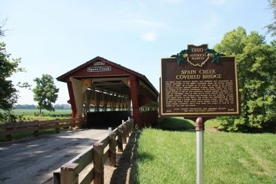 Spain Creek Covered Bridge Marker image. Click for full size.