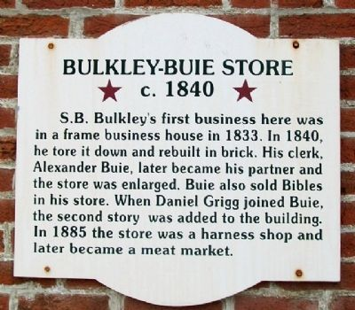 Bulkley-Buie Store Marker image. Click for full size.