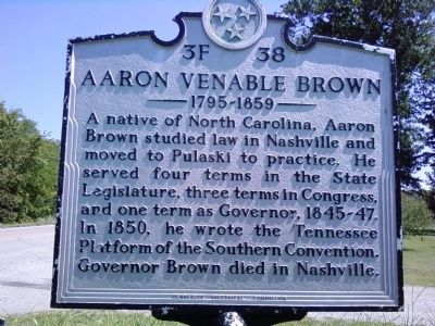 Aaron Venable Brown Marker image. Click for full size.