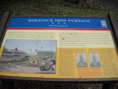 Moratock Iron Furnace Marker image. Click for full size.