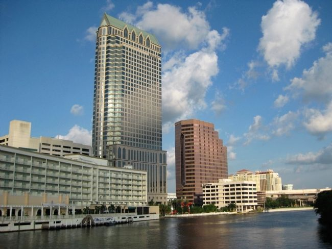 The Hillsborough River and MacDill Park on the Riverwalk image. Click for full size.