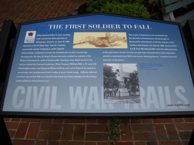 The First Soldier to Fall Marker image. Click for full size.