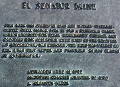 El Senator Mine Marker image. Click for full size.