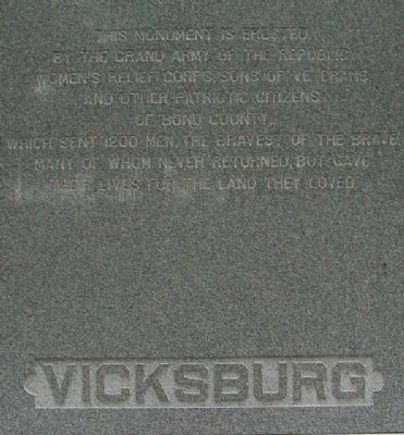 Bond County Civil War Monument South Face image. Click for full size.