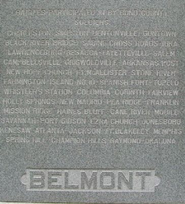 Bond County Civil War Monument North Face image. Click for full size.