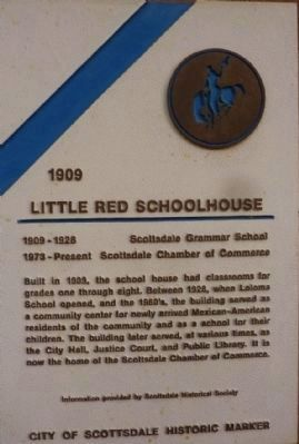 Little Red School House Marker image. Click for full size.