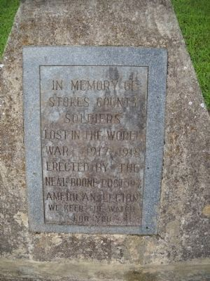 Stokes County World War I Marker image. Click for full size.