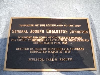 General Joseph Eggleston Johnston Marker Photo, Click for full size