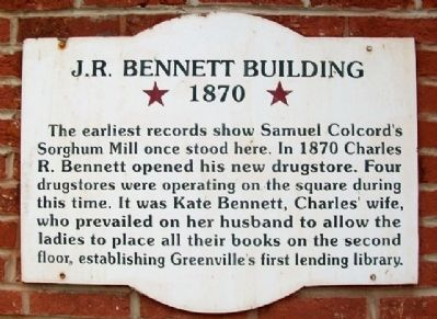 J. R. Bennett Building Marker image. Click for full size.