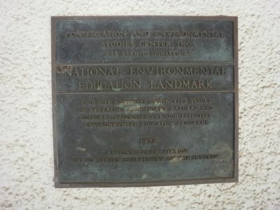 Conservation and Environmental Studies Center, Inc. Marker image. Click for full size.