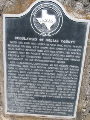 Regulators of Goliad County Marker image. Click for full size.