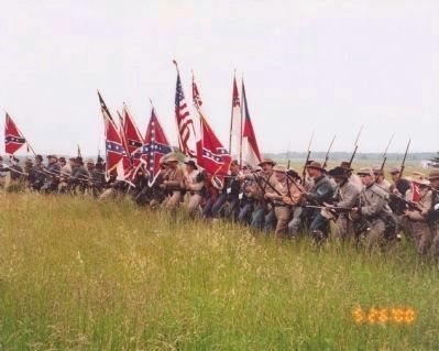 11th Mississippi Infantry dedication charge Photo, Click for full size