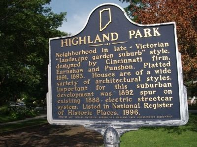 Highland Park Marker Photo, Click for full size