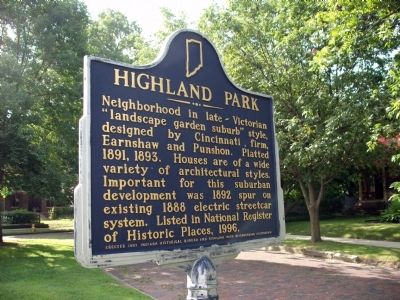 Obverse View - - Highland Park Marker Photo, Click for full size