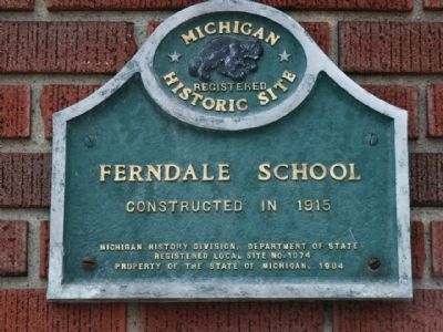 Ferndale School Marker image. Click for full size.