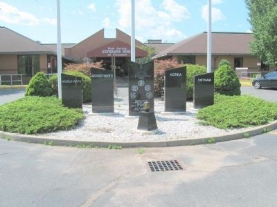 Paramus Veterans Monument in front of the New Jersey Veterans Home at Paramus image. Click for full size.