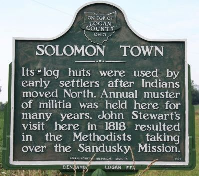 Solomon Town Marker image. Click for full size.