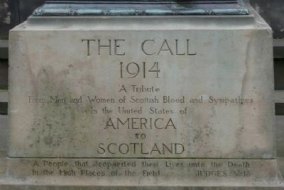Scottish-American War Memorial inscription image. Click for full size.