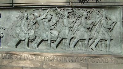 Scottish-American War Memorial frieze image. Click for full size.
