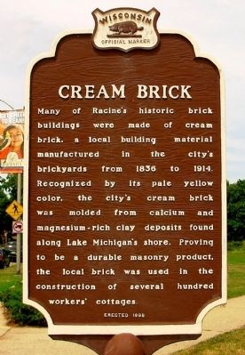 Cream Brick Marker Photo, Click for full size