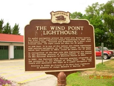 The Wind Point Lighthouse Marker image. Click for full size.