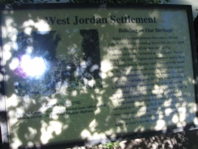 West Jordan Settlement Marker image. Click for full size.