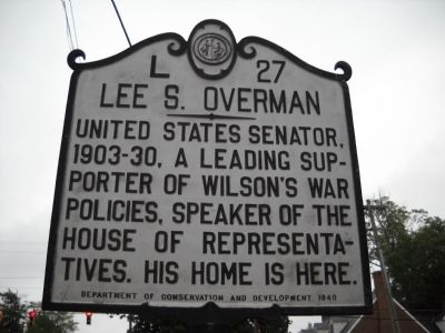 Lee S. Overman Marker image. Click for full size.