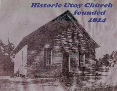 Historic Utoy Church in 1949, Before Remodelling image. Click for full size.