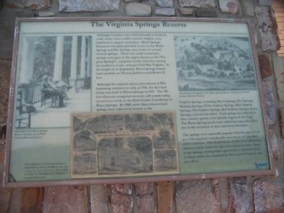 The Virginia Springs Resorts Marker image. Click for full size.