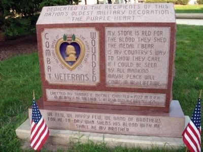 """ The Purple Heart "" - Memorial Marker image. Click for full size."
