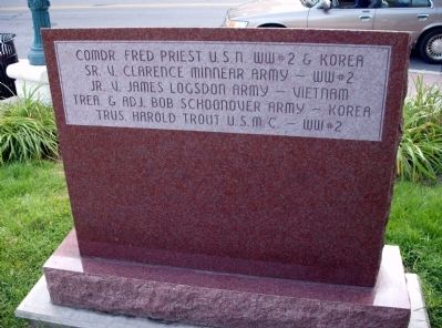 "Obverse View - - "" The Purple Heart "" - Memorial Marker image. Click for full size."