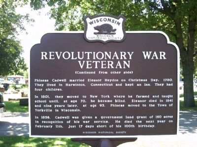 Revolutionary War Veteran Marker - Side B image. Click for full size.