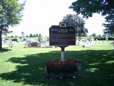 Revolutionary War Veteran Marker and Cemetery image. Click for full size.
