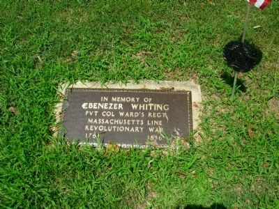 Ebenezer Whiting Marker image. Click for full size.