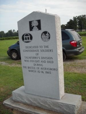 Taliaferro's Division Marker (rear view) image. Click for full size.