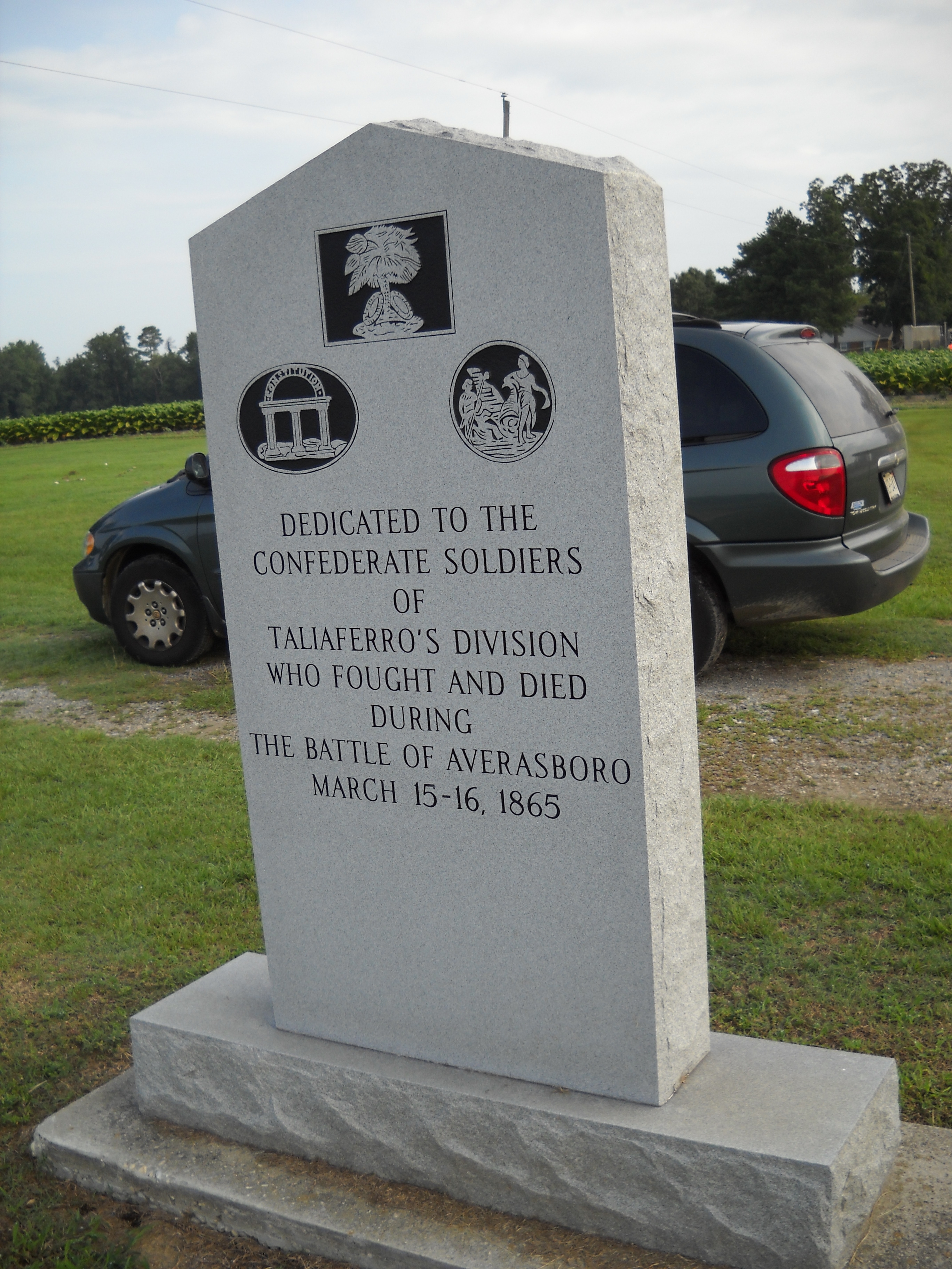 Taliaferro�s Division Marker (rear view)