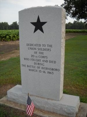 20th Corps Marker (rear view) Photo, Click for full size